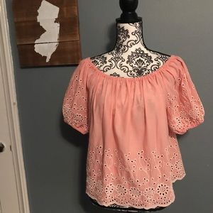 See by Chloe Size 38 (S) Broderie Anglaise Blouse